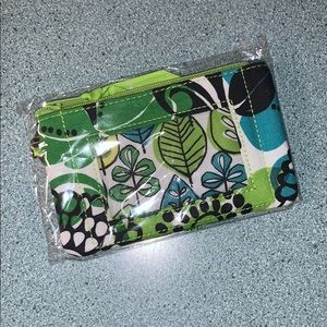 Vera Bradley Lime's Up Zip Up ID Case